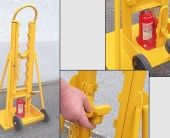 Lancier-cable cable drum lifting/wrapping equipment